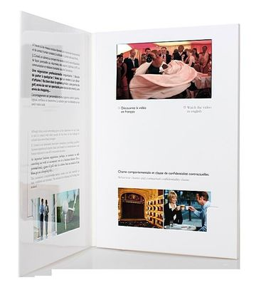 fastivel / business gift lcd video brochure card with USB cable، Flip book - video